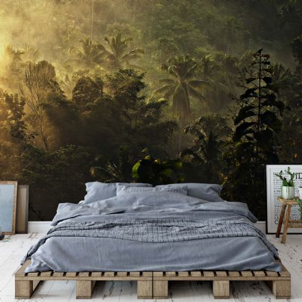 "Easy to Install wallpaper ""Morning in the Jungle"""
